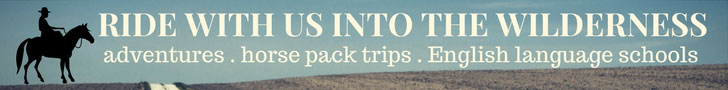 Adventures - horse pack trips - English language schools