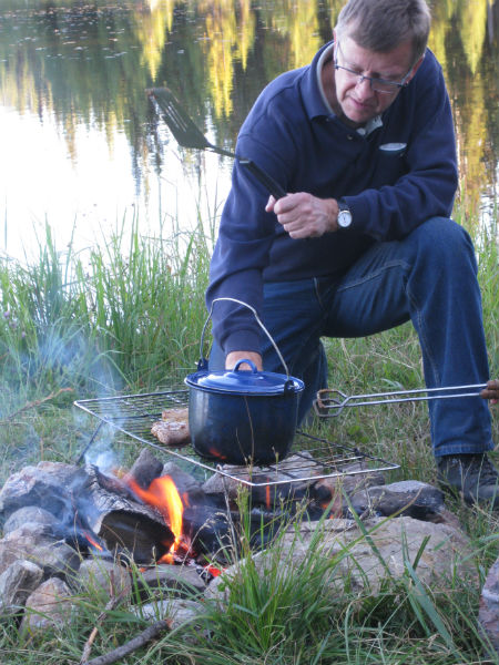 campfire fish campfire cooking backcountry canada travel