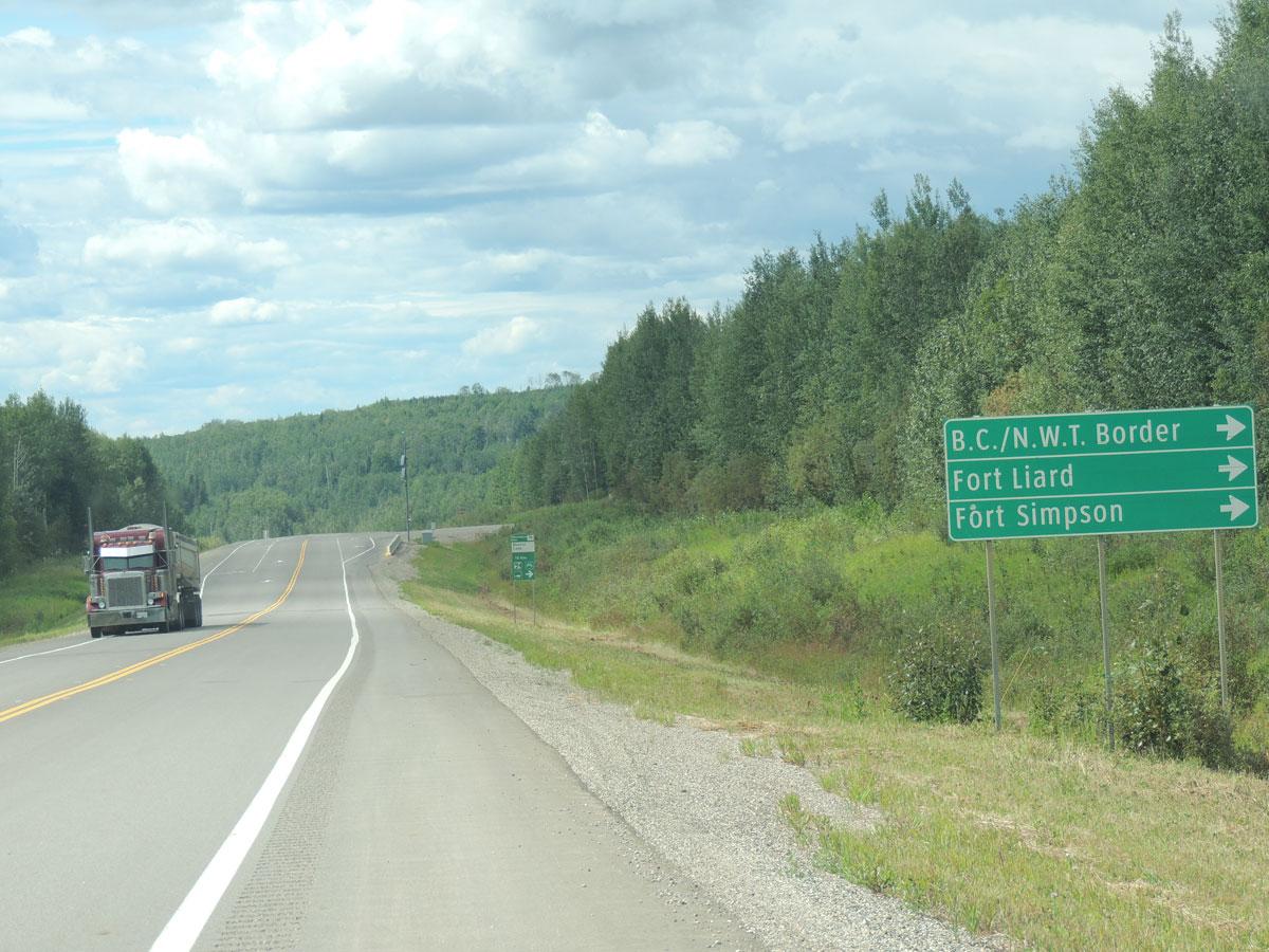 Liard BC Sign