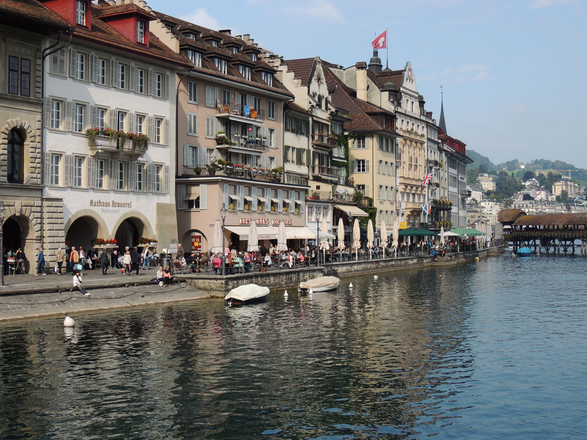 Lucerne Switzerland along the Reuss