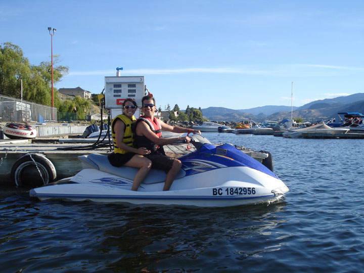 Jetski fun Okanagan Lake