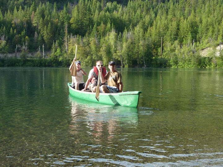 Paddling on echo Lake North Okanagan