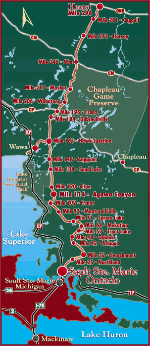 Algoma train map