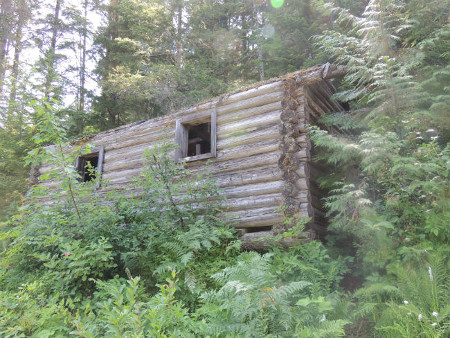 Times gone by - old cabin along the trail