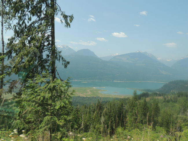 View of the Columbia River near Revelstoke